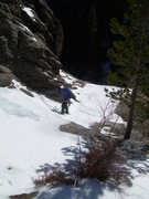 Rock Climbing Photo: Approaching the belay tree and walkoff.