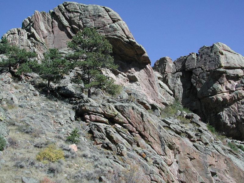 Rock Climbing Photo: The Do not Tell Wall along Salt Creek