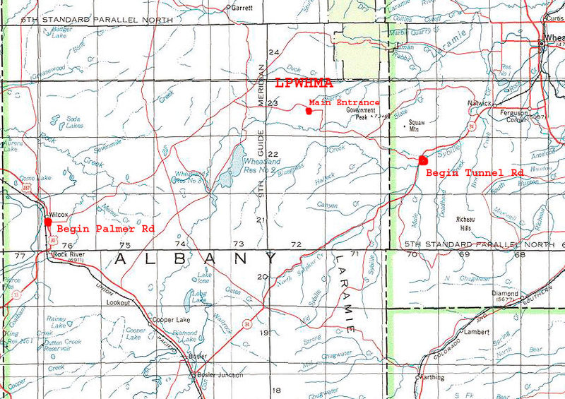 Palmer & Tunnel roads Regional Map