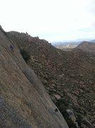 Rock Climbing Photo: Climbers over on Hanging Garden's.  Shot taken fro...