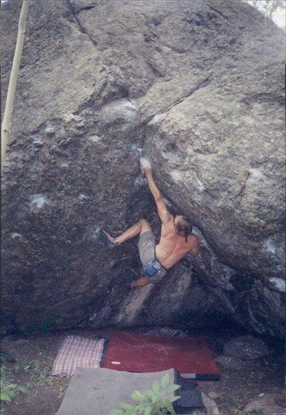 Rock Climbing Photo: Scoop Problem on Boulder #1.