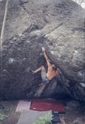 Rock Climbing Photo: Scoop Problem on Boulder #1.