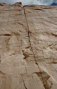 Rock Climbing Photo: Overhung sandy Off-width anyone?
