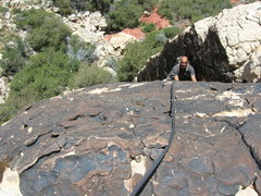 Rock Climbing Photo: Mark on the first pitch of The Friar. Super fun pi...