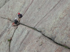 Rock Climbing Photo: Charlie and Jason, top of the first pitch and raci...