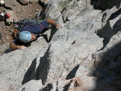 Rock Climbing Photo: Not sure which route on Funny Face wall this is. T...