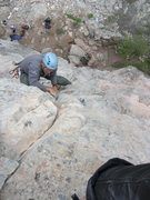 Rock Climbing Photo: Nearing the top of Carlin.