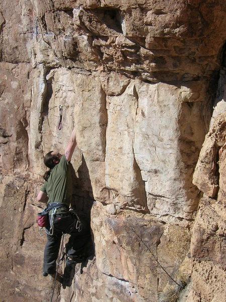 Rock Climbing Photo: Cory on Chompin'.