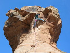 Rock Climbing Photo: The final moves are interesting.