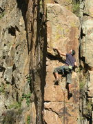 Rock Climbing Photo: Dave having some fun on Gossip Column.