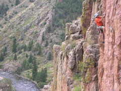 Rock Climbing Photo: I promise I have a rope attached to me....