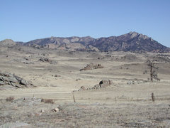 Rock Climbing Photo: the Kennedy Ranch Rocks visible in the central upp...