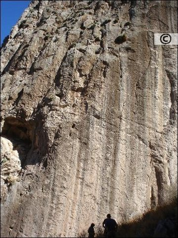 Rock Climbing Photo: Unknown climbers scouting a route on the west face...