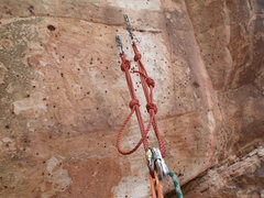 Rock Climbing Photo: anchors for route to mecca, the haj, and sir climb...