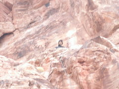 Rock Climbing Photo: my bro on top of the route to mecca