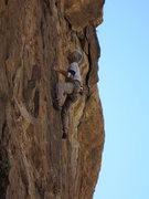 Rock Climbing Photo: Jim on the FA