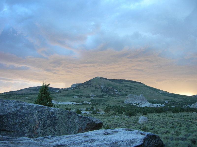 Rock Climbing Photo: Nice pastel sunset.