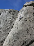 Rock Climbing Photo: Almost up to the crack on Twist and Crawl
