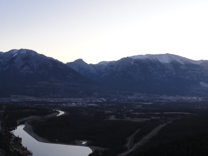 Overview of Canmore one morning