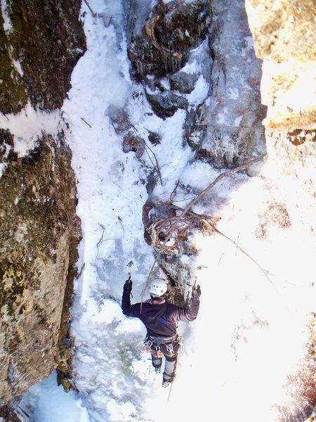 Rock Climbing Photo: Jimmi Jazz starting up Yukon Jon