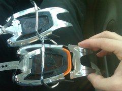 Rock Climbing Photo: broken sabertooth crampons