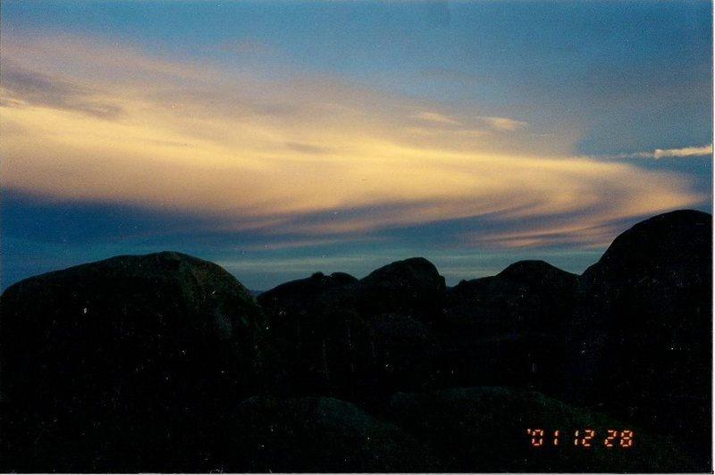 Rock Climbing Photo: Evening Sky at Joshua Tree