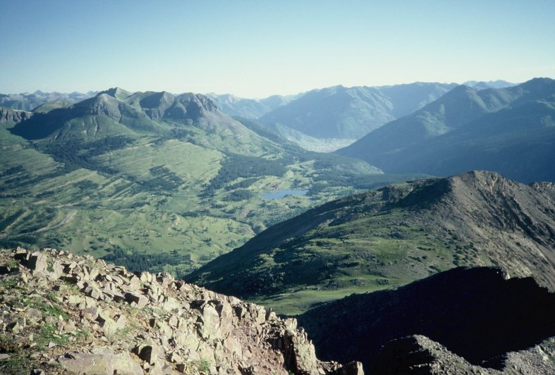 Rock Climbing Photo: Molas Lake and Silverton below.