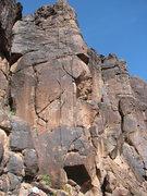 Rock Climbing Photo: The route.