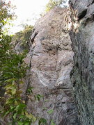 Rock Climbing Photo: Trundlasaurus Wall  Passing Out Rox(5.10) mixed 3 ...