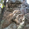 Plane Above Your Head Wall<br> <br> Plane Above Your Head(5.10) sport<br> <br> Crowders Mountain State Park, North Carolina