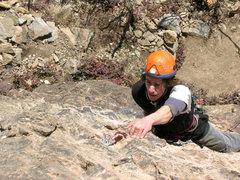 Rock Climbing Photo: Dalton climbing First Blood on a beautiful Februar...