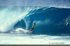 Rock Climbing Photo: Gerry Lopez @ Pipeline Photographed by Sean Davey