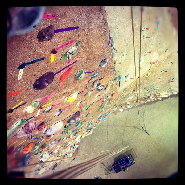 Rock Climbing Photo: Setting, 45ft up at the Texas A&M Indoor Climbing ...