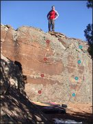 Rock Climbing Photo: The route with red dots.