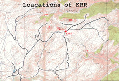 Rock Climbing Photo: Locations of Kennedy Ranch Rocks and Kennedy Ranch...