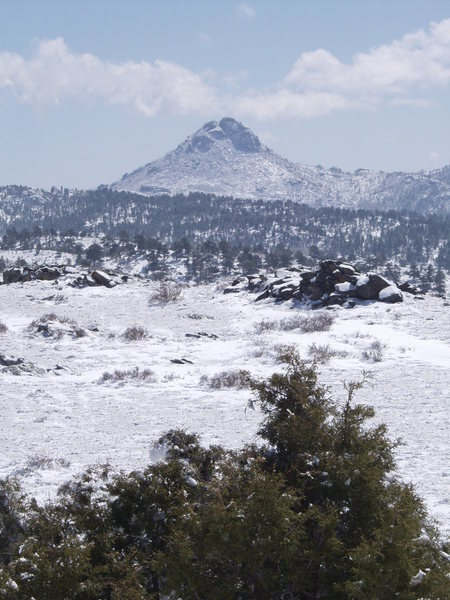 Collins Peak in the winter.