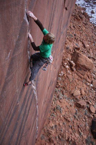 Rock Climbing Photo: Crack Climbing! 'Conception' Day Canyon, Moab, UT