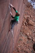 Rock Climbing Photo: Crack Climbing! 'Conception' Day Canyon, Moab, UT