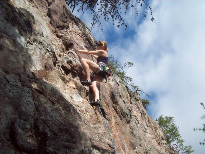 Rock Climbing Photo: Rawlhide Wall  Nicole Hardenbergh leads  Cro-Magno...