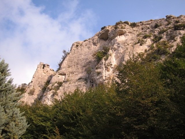 Looking towards the Settore Della Torre from the parking lot at Monte Cucco