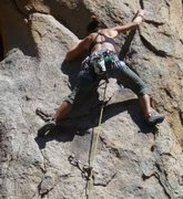 Rock Climbing Photo: Rope gunning one armed bandit. In the middle area....