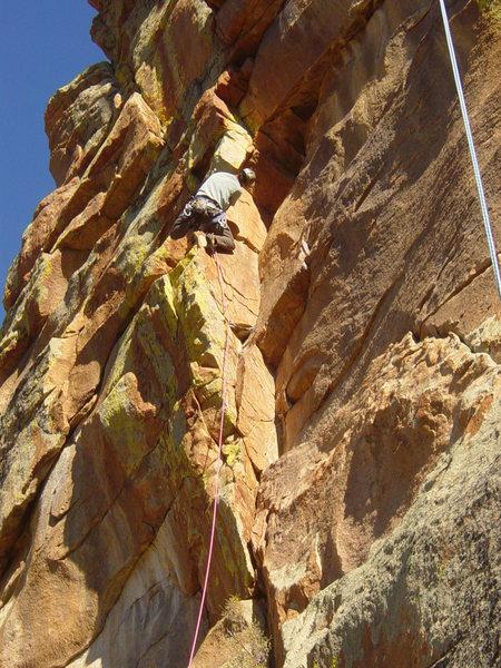 Rock Climbing Photo: Starting up Aeolius.