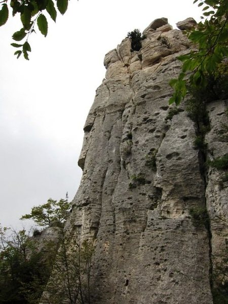 Close up of the top half of the Tower side of the Settore della Torre.  Left side is Moby Dick, middle is La Torre and right is Mani D'Oro