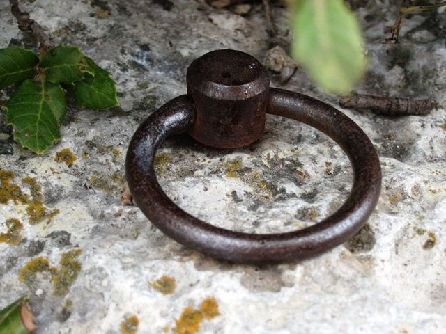 Old bolt on top of Moby Dick at Settore della Torre