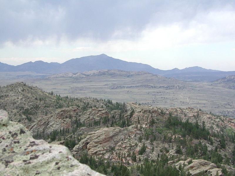Laramie Peak from the Summit of Split Rock