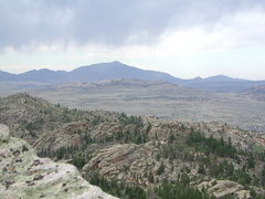 Rock Climbing Photo: Laramie Peak from the Summit of Split Rock