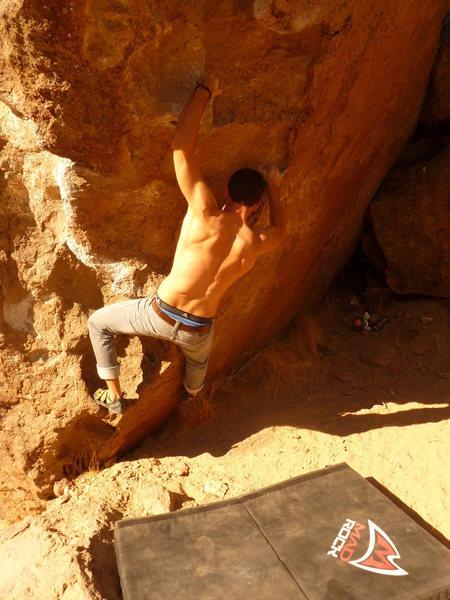 Rock Climbing Photo: Richard Robinson climbing Secrets to success.