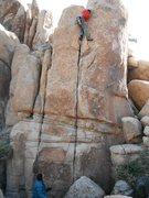 Rock Climbing Photo: Richard Shore on Robert's Crack 5.10d