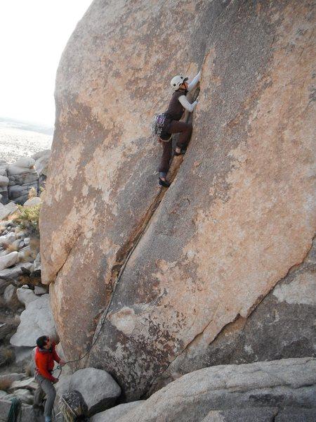 Rock Climbing Photo: Haven Livingston leading Short but Sweet 5.9