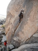 Rock Climbing Photo: Haven Livingston leading Short but Sweet 5.9